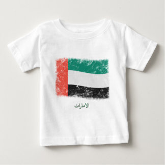 Grunge United Arab Emirates Flag Baby T-Shirt