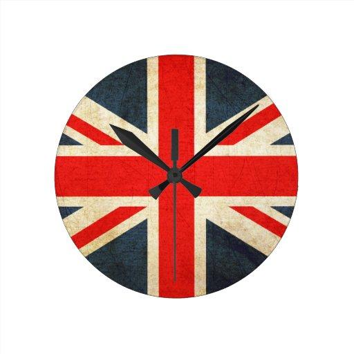 Grunge United Kingdom Flag Clock