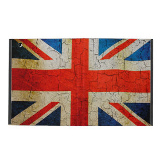 Grunge United Kingdom flag iPad Folio Case