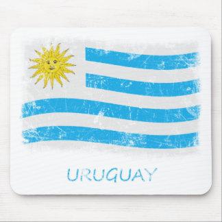 Grunge Uruguay Flag Mouse Pad