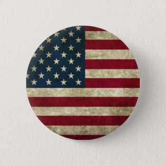 Grunge USA Flag 6 Cm Round Badge