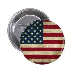 Grunge USA Flag Button