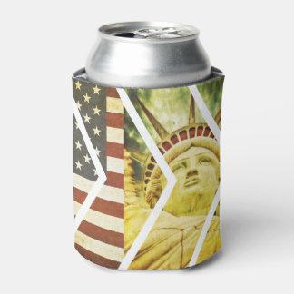 Grunge USA Flag Statue of Liberty Chevrons
