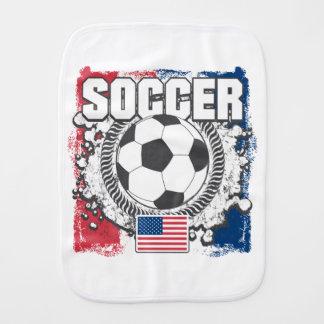 Grunge USA Soccer Burp Cloth
