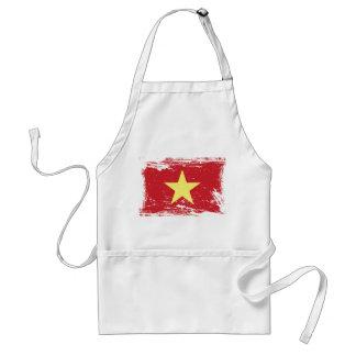 Grunge Vietnam Flag Standard Apron