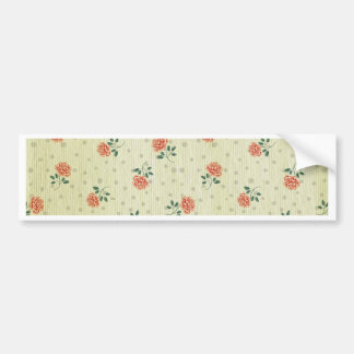 Grunge,vintage,coral,floral,country,chic,victorian Bumper Sticker