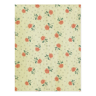Grunge,vintage,coral,floral,country,chic,victorian Postcard