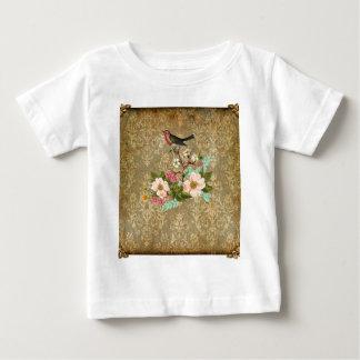 grunge vintage damask floral bird victorian brown t shirts