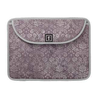 Grunge Vintage Damask in Dusky Eggplant Pink Sleeve For MacBook Pro