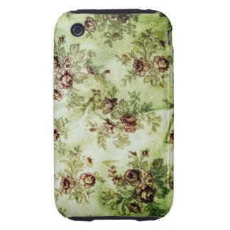 Grunge Vintage Floral Pattern iPhone 3 Case