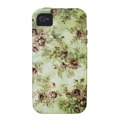Grunge Vintage Floral Pattern iPhone 4 Case