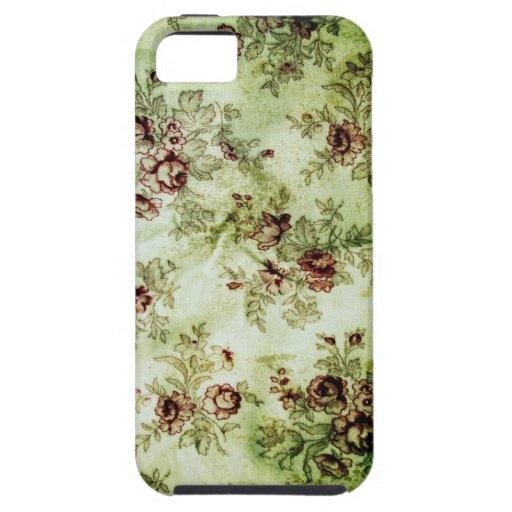 Grunge Vintage Floral Pattern iPhone 5 Case