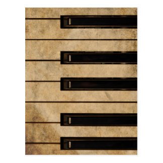Grunge vintage piano post card