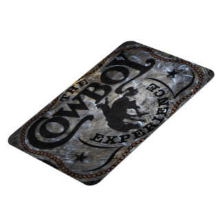 grunge vintage rustic western country cowboy rodeo rectangle magnet