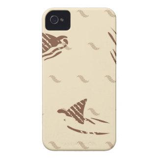Grunge Vintage sharks 3 fins iPhone 4 Case-Mate Cases