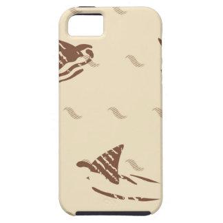 Grunge Vintage sharks 3 fins iPhone 5 Cases