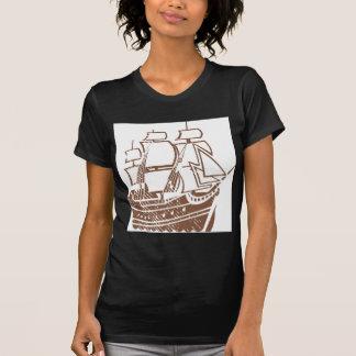 Grunge Vintage Ship T Shirt