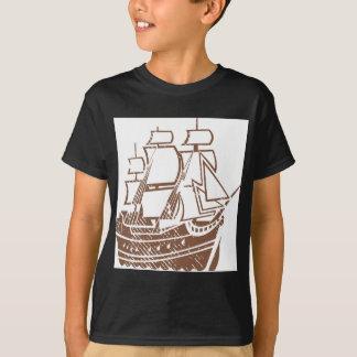 Grunge Vintage Ship T-Shirt