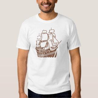 Grunge Vintage Ship T-shirts