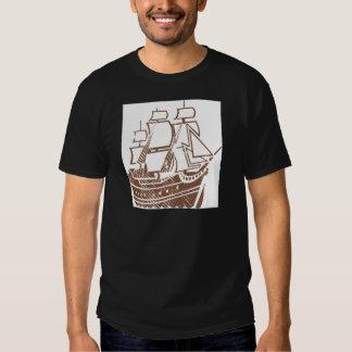 Grunge Vintage Ship Tee Shirt