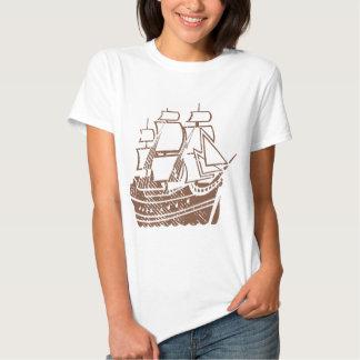 Grunge Vintage Ship Tshirt