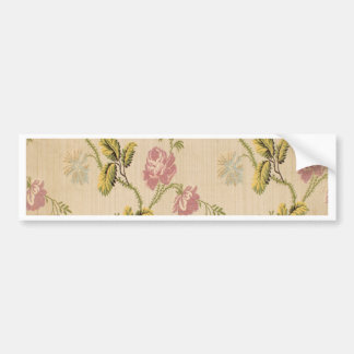 grunge,vintage,victorian,floral,pink,elegant,chic, car bumper sticker