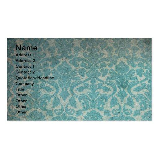 Grunge Vintage Wallpaper Business Cards