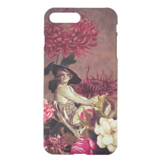 Grunge Vintage Woman Glass Floral Collage iPhone 7 Plus Case
