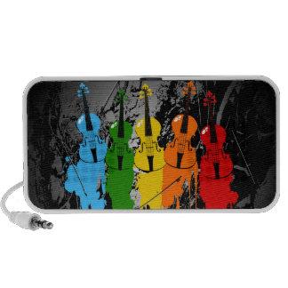 Grunge Violins Portable Speaker