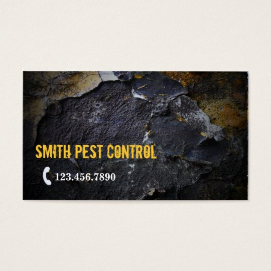 Grunge Wall Texture Pest Control Business Card