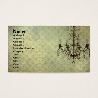 Grunge Wallpaper Chandelier 10 Business Card