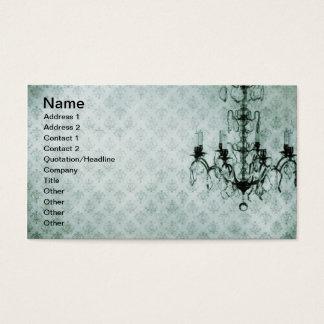 Grunge Wallpaper Chandelier 12 Business Card