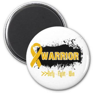 Grunge - WARRIOR - Appendix Cancer Fridge Magnets