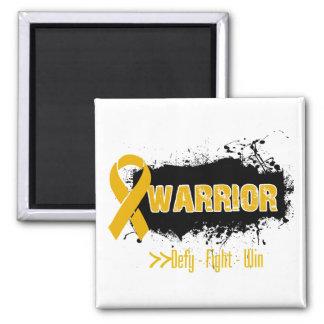 Grunge - WARRIOR - Appendix Cancer Refrigerator Magnets