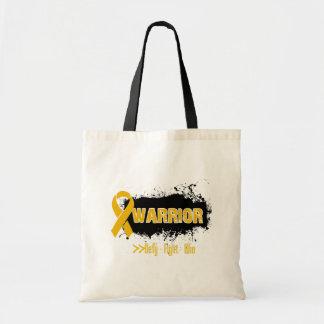 Grunge - WARRIOR - Appendix Cancer Budget Tote Bag