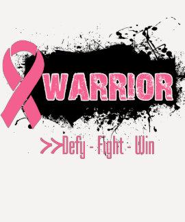 Grunge - WARRIOR - Breast Cancer T-shirt