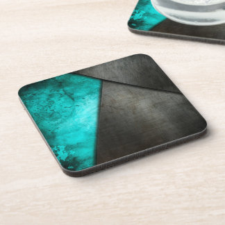 Grunge Watercolor and Metal Plate | Coaster