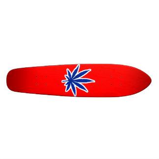 Grunge Weed - Blue Custom Skateboard