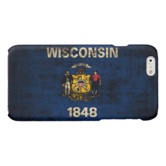 Grunge Wisconsin Flag iPhone 6 Plus Case