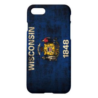 Grunge Wisconsin Flag iPhone 7 Case
