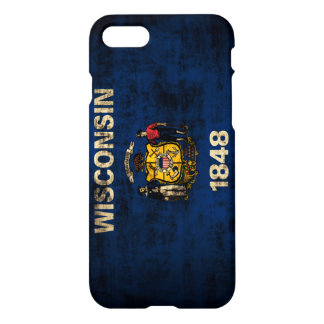 Grunge Wisconsin Flag iPhone 7 Case
