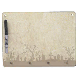 Grunge With Graveyard and Dead Trees Dry-Erase Board