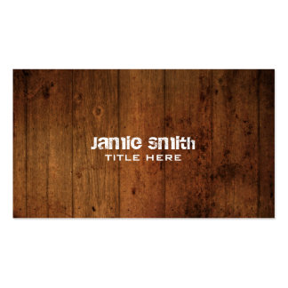 Grunge Wood Business Card