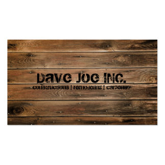 grunge wood texture Construction Carpentry Pack Of Standard Business Cards