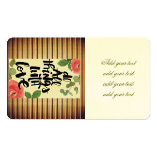 Grunge wood wall,floral, text,roses,vintage,rustic pack of standard business cards