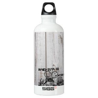 Grunge wooden Traveller (0.6L), White Water Bottle