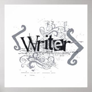 Grunge Writer Posters