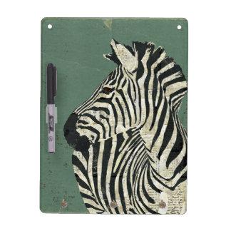 Grunge Zebra  Dry Erase Board