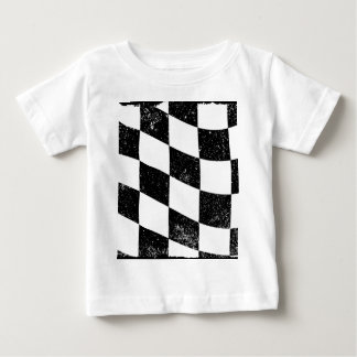 Grunged Chequered Flag Baby T-Shirt