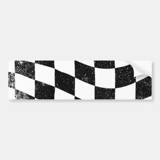 Grunged Chequered Flag Bumper Sticker